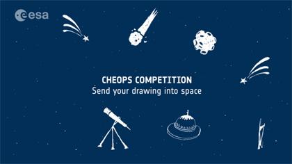 Manda il tuo disegno su CHEOPS. Crediti: ESA