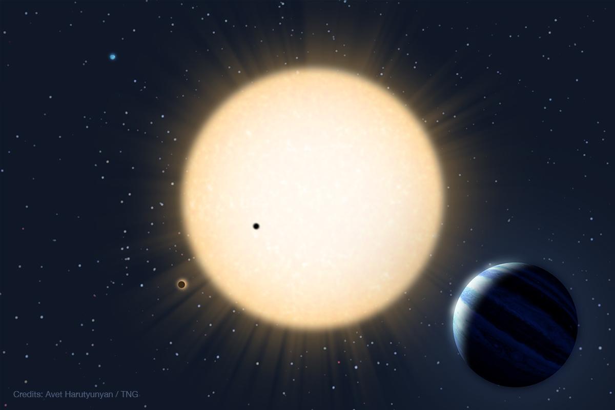 Rappresentazione artistica del sistema planetario HD 219134. Crediti:  Avet Harutyunyan / FGG-TNG