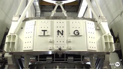 Il TNG-Telescopio Nazionale Galileo. Crediti Media INAF