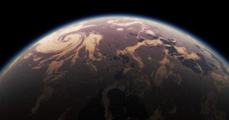 Rappresentazione artistica di una Super-Terra-