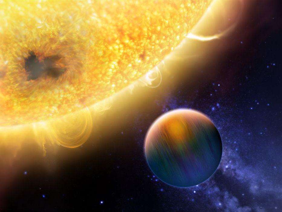 Rappresentazione artistica di un gioviano caldo. Crediti: NASA/ESA